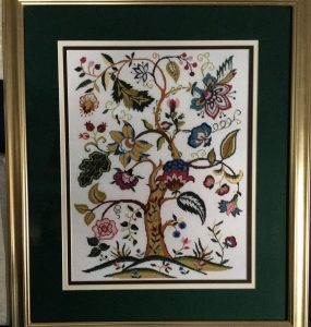 Jacobean Tree stitched by Pat ElBayly